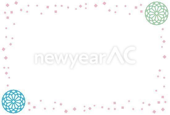 正月枠 No100578年賀状素材イラストの無料ダウンロードなら年賀状ac