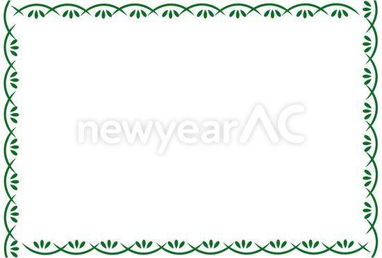 正月枠 No100601年賀状素材イラストの無料ダウンロードなら年賀状ac