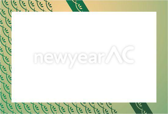 年賀状 2015 年賀状 フレーム 無料 : パーツ フレーム 和柄 囲み枠 ...