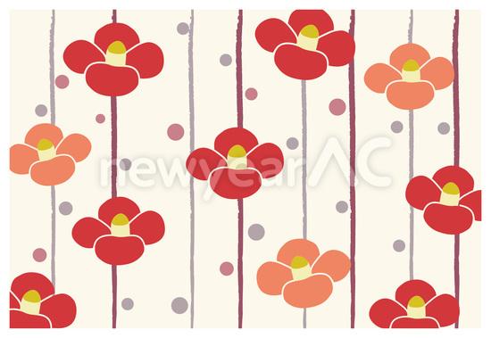 椿の花柄背景 No1018002019年の無料年賀状デザインなら年賀状ac