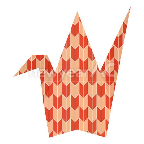 すべての折り紙 鶴の折り紙 : 折り紙 鶴2 │年賀状 ...