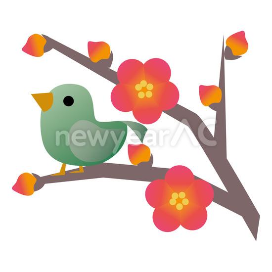 鴬と梅の花 No1021072019年の無料年賀状デザインなら年賀状ac