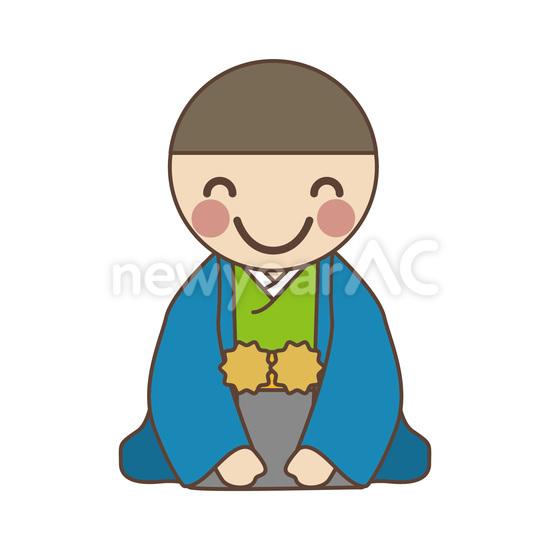 着物の男性 No1021132019年の無料年賀状デザインなら年賀状ac