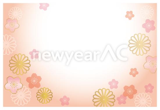 菊と梅が無数に咲き乱れる ...