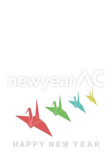 すべての折り紙 折り紙 つる : カラフルな折り紙の鶴 ...