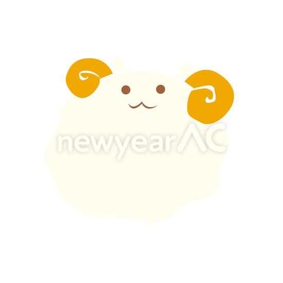 イラスト 年賀 イラスト 無料 2015 : 画像 : 羊の無料イラスト年賀状 ...