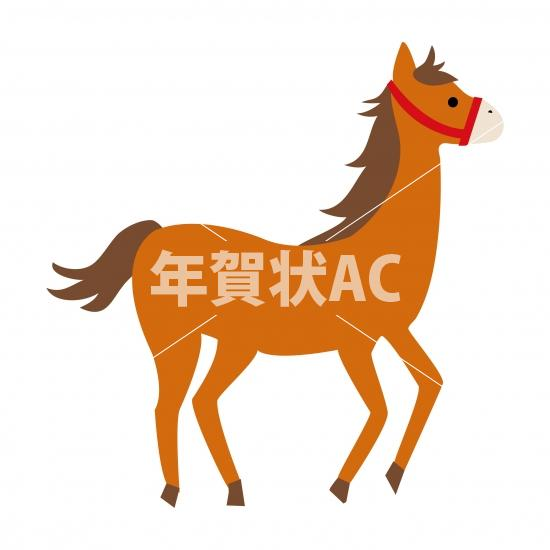 馬6 No102793年賀状素材イラストの無料ダウンロードなら年賀状ac