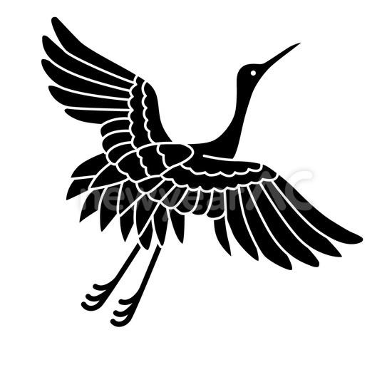 モノトーン 鶴 No1029702019年の無料年賀状デザインなら年賀状ac