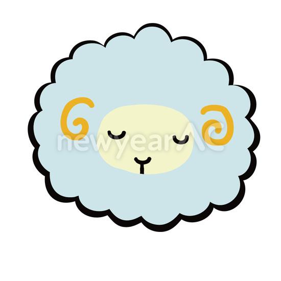 居眠り羊 ブルー │年賀状 ... : 十二支の絵 : すべての講義