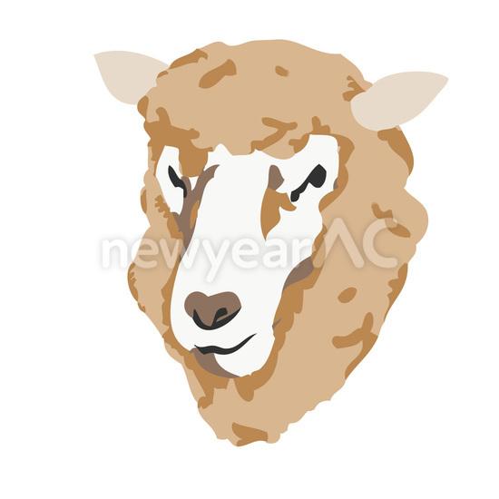 羊顔アップ 茶 No1032322019年の無料年賀状デザインなら年賀状ac