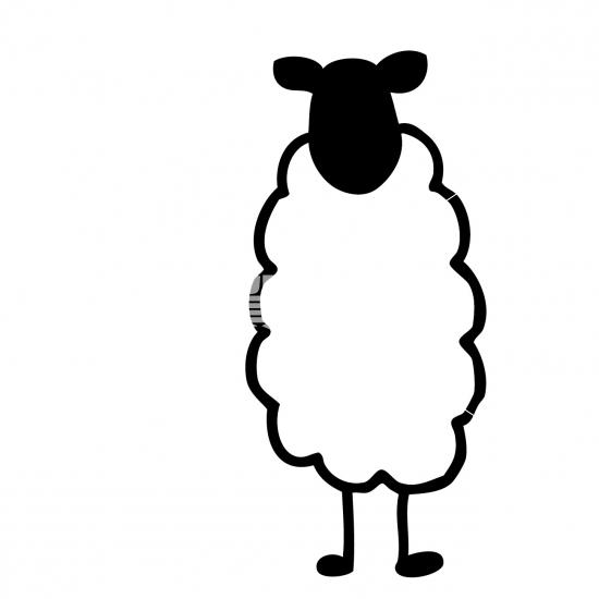 モダンシンプル羊 No1032332019年の無料年賀状デザインなら年賀状ac