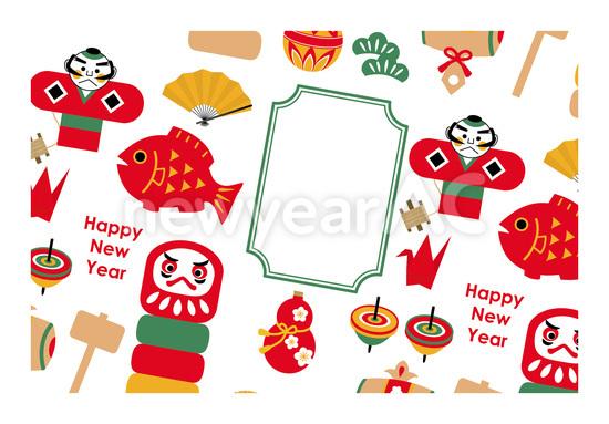 正月イラスト No1053352019年の無料年賀状デザインなら年賀状ac