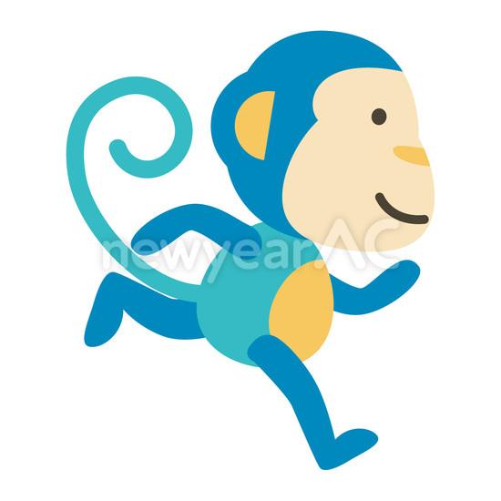 走る青猿 No1089492019年の無料年賀状デザインなら年賀状ac