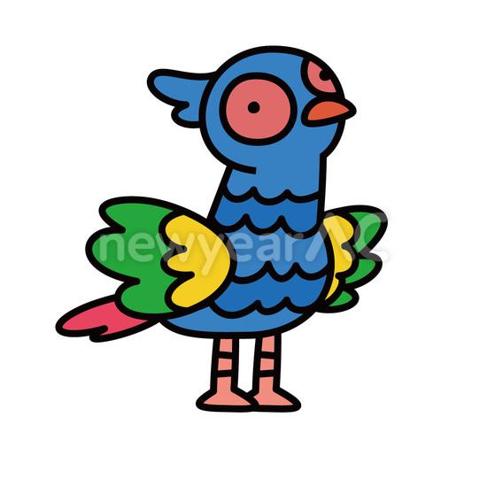 キジ No1092032019年の無料年賀状デザインなら年賀状ac