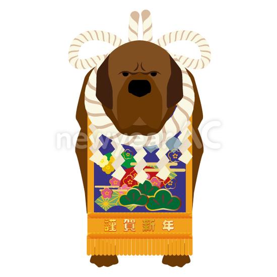 闘犬1 No1102002019年の無料年賀状デザインなら年賀状ac