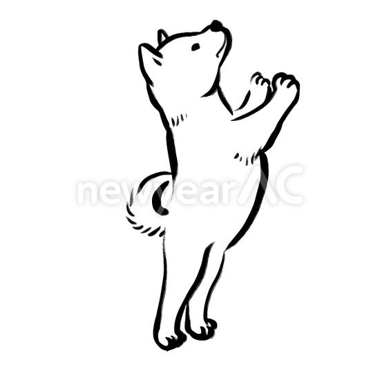 犬の水墨画11 No1103612019年の無料年賀状デザインなら年賀状ac