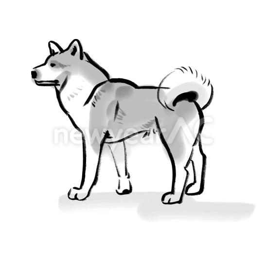 犬の水墨画18 No1103682019年の無料年賀状デザインなら年賀状ac