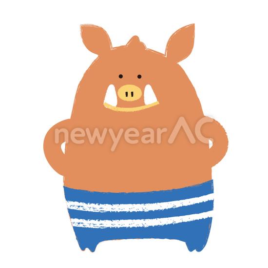 かわいい猪 No1112702019年の無料年賀状デザインなら年賀状ac